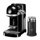 Капсульная кофемашина KitchenAid Nespresso, черная, + Aeroccino 3, 5KES0504EOB